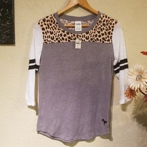 Victoria secret pink 3/4 sleeve shirt